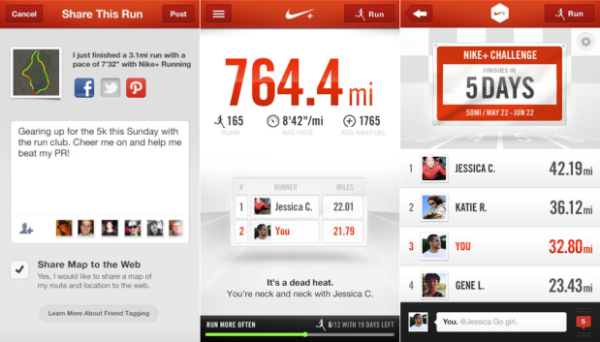 Social Share on Nike +