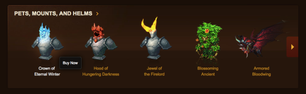 World of Warcraft item shop