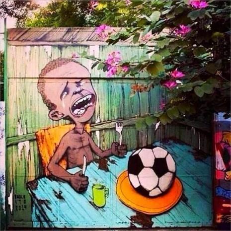 Anti-Fifa graffiti in Brazil