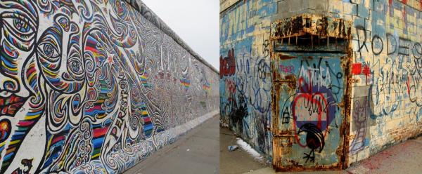 Good UI vs Bad UI - Berlin wall and act of vandalism